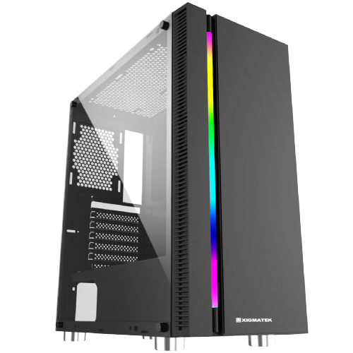 Xigmatek Apollo Mid Tower TG Side / RGB Front Panel Case
